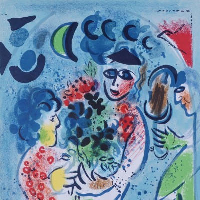 Details of Marc Chagall - Flowers, 1969