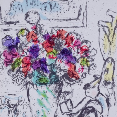 Details of Marc Chagall - Flowers, 1974