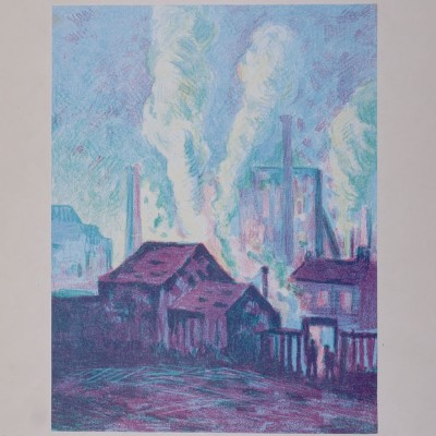 Details of Maximilien Luce - Usines a Charleroi, 1898
