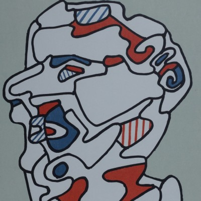 Details of Jean Dubuffet - L'Homme, 1967