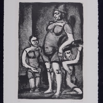 Details of Georges Rouault - Clowness (Saltimbanues) , 1926