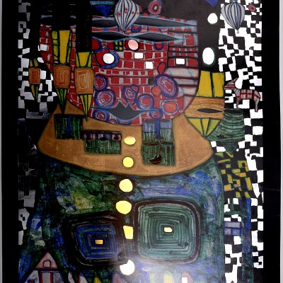 Details of Friedensreich Hundertwasser - Antipode King, 1997