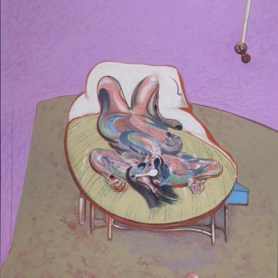 Details of Francis Bacon - Galerie Maeght Personnage couché, 1966