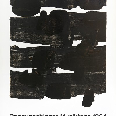 Details of Pierre Soulages -  Donaueschinger Musiktage, 1964