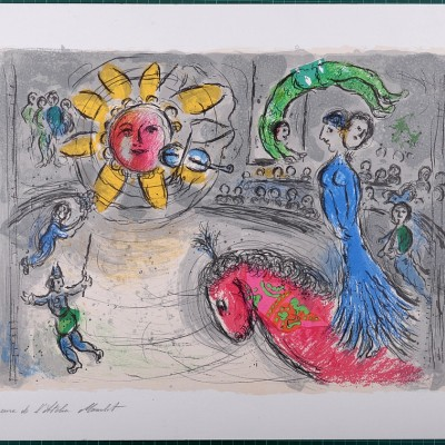 Details of Marc Chagall : Sun With Red Horse, 1979