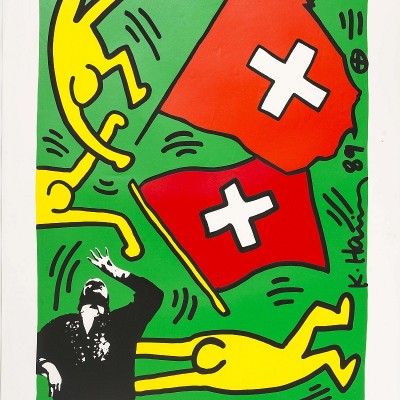 Details of Keith Haring : August 1 1991 (Switzerland 700 years), 1991