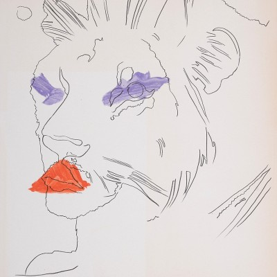 Details of Andy Warhol : Lion, 1974
