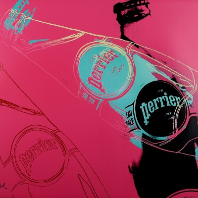 Details of Andy Warhol : Perrier pink, 1983