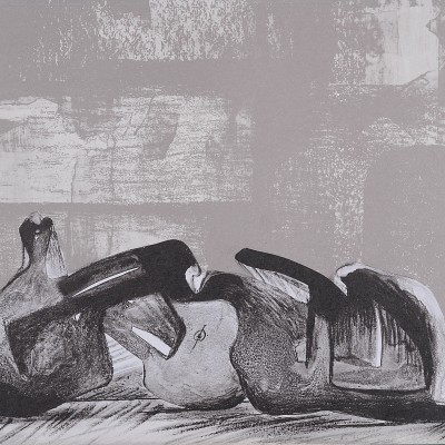 Details of Henry Moore : Reclinning figures, 1977