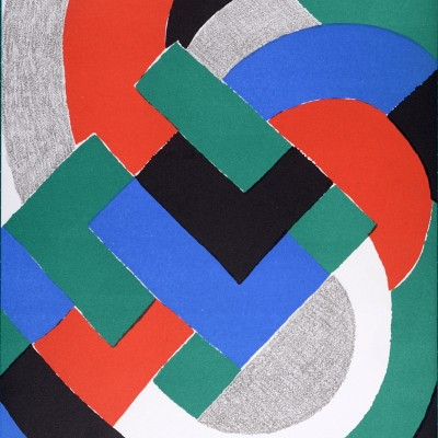 Details of Sonia Delaunay - Composition pour XXe Siècle, 1969