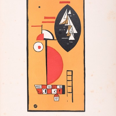 "Details of Wassily KANDINSKY - Woodcut for Editions ""Cahiers d'Art"" , 1930"