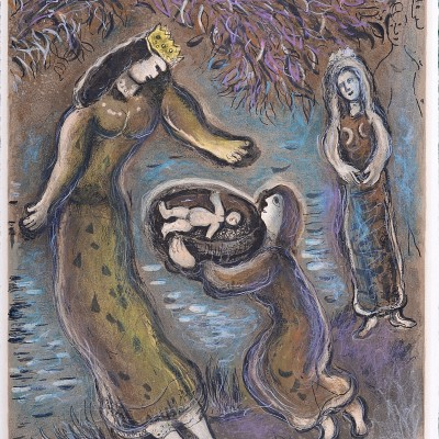 Details of Marc CHAGALL - Pharaoh's daughter and Moses,  1966