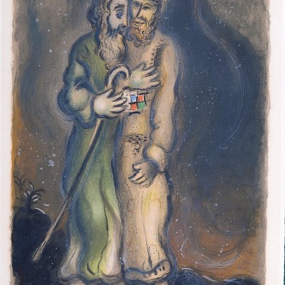 Details of Marc CHAGALL God Sends Aaron into the Desert to Meet Moses 1966