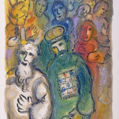 Details of Marc CHAGALL Moses and Aaron with the Elders 1966