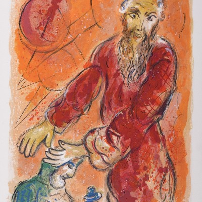 Details of Marc CHAGALL Moses Blesses Joshua 1966