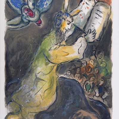 Details of Marc CHAGALL The Ten Commandments 1966