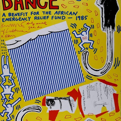 Details of Keith HARING : Rain Dance. 1985.