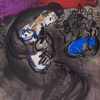 Details of Marc CHAGALL  Lamentations of Jeremiah 1956