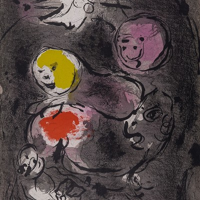 Details of Marc CHAGALL   Prophet Daniel with lions 1956