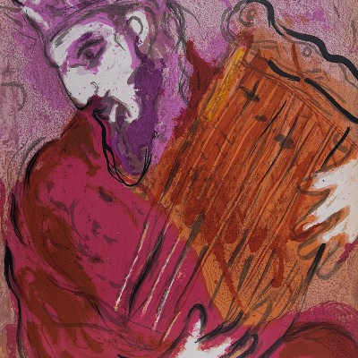 Details of Marc CHAGALL  David and his Harp 1956