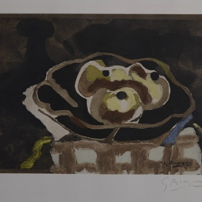 Details of Georges Braque : Nature morte aux pommes, C.1950