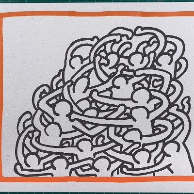 Details of Keith HARING   Untitled   1990