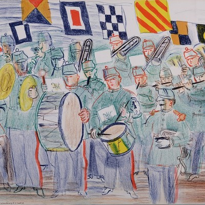 Details of Raoul Dufy - The Band, 1949