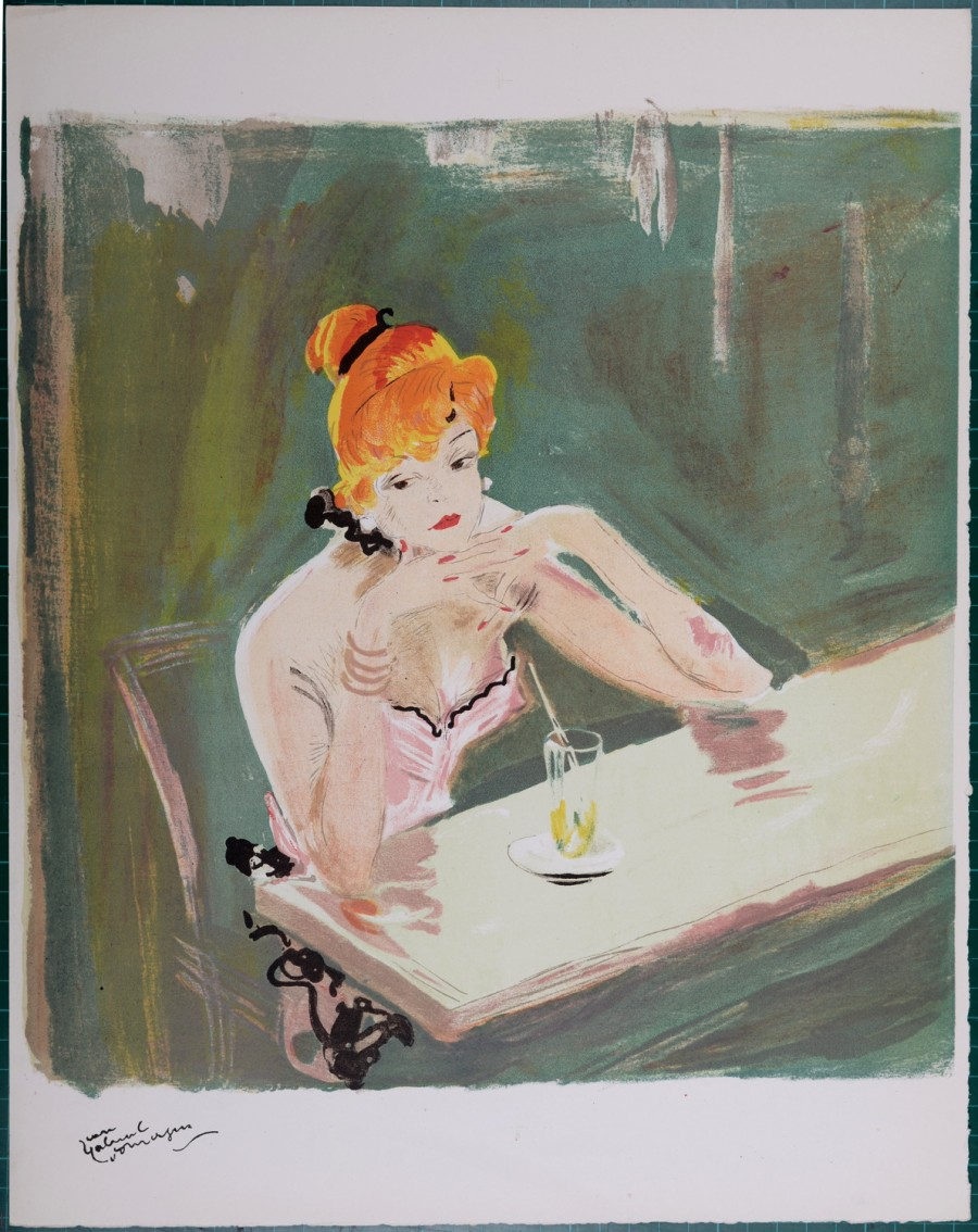 Original of Jean-Gabriel Domergue - La Parisienne, 1956 for sale