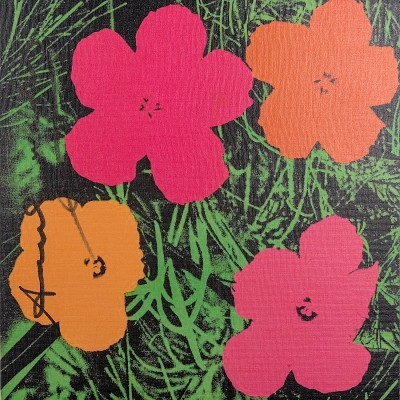 Details of Andy Warhol : Flowers (Castelli Invitation), Hand Signed, 1981