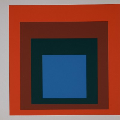 Details of Josef ALBERS Homage to the Square, 1977