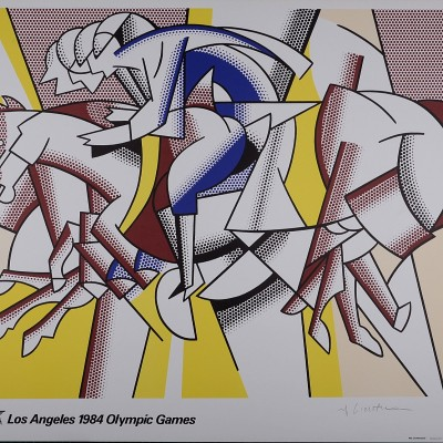 Details of Roy Lichtenstein Los Angeles Olympic 1984