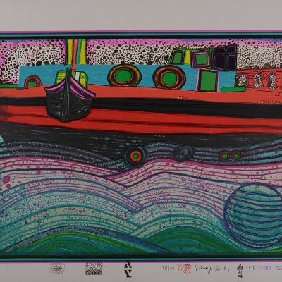Details of Friedensreich Hundertwasser : Rainy Day on Love Waves, 1971
