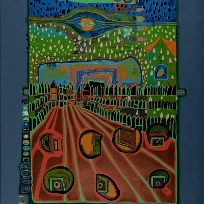 Details of Friedensreich Hundertwasser : Street for Survivor 1971