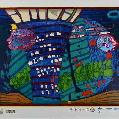 Details of Friedensreich Hundertwasser : Exodus Into Space 1971