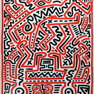Details of Keith HARING - Keith Haring at Fun Gallery, 1983