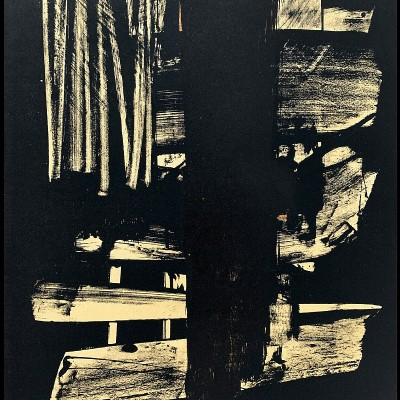Details of Pierre Soulages, Lithographie n°9, 1959