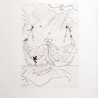 Details of Salvador DALI - Le Tricorne, 1958 -Original etching