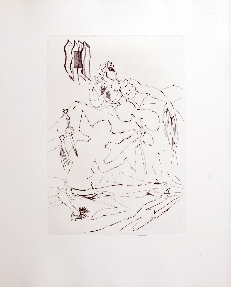 Original of Salvador DALI - Le Tricorne, 1958 - Original etching for sale