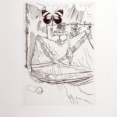 Details of Salvador DALI -  Le Tricorne, 1958 - Original etching