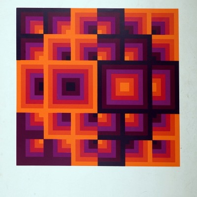 Details of Victor Vasarely - Optical composition, 1970
