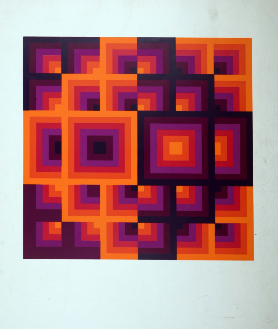 Original of Victor Vasarely - Optical composition, 1970 for sale