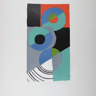 Details of Sonia Delaunay - Trois disques, Circa 1965